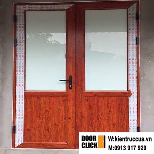 cửa đi mở quay nhôm pma