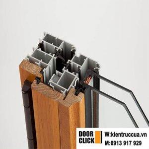 cửa sổ nhôm ốp gỗ