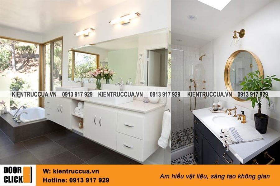 Gương Bỉ cao cấp lắp phòng tắm