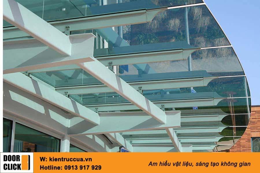 Hệ mái kính kết cấu thép sơn tĩnh điện