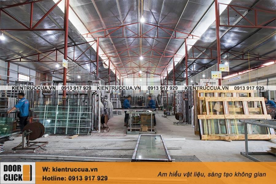 Nhà máy sản xuất cửa nhôm Doorclick