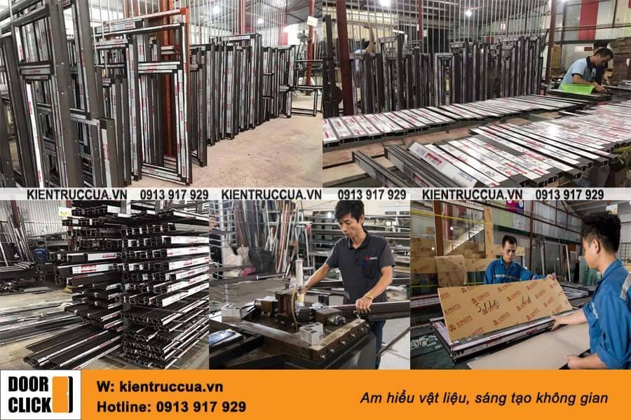 Phân xưởng sản xuất cửa nhôm Xingfa