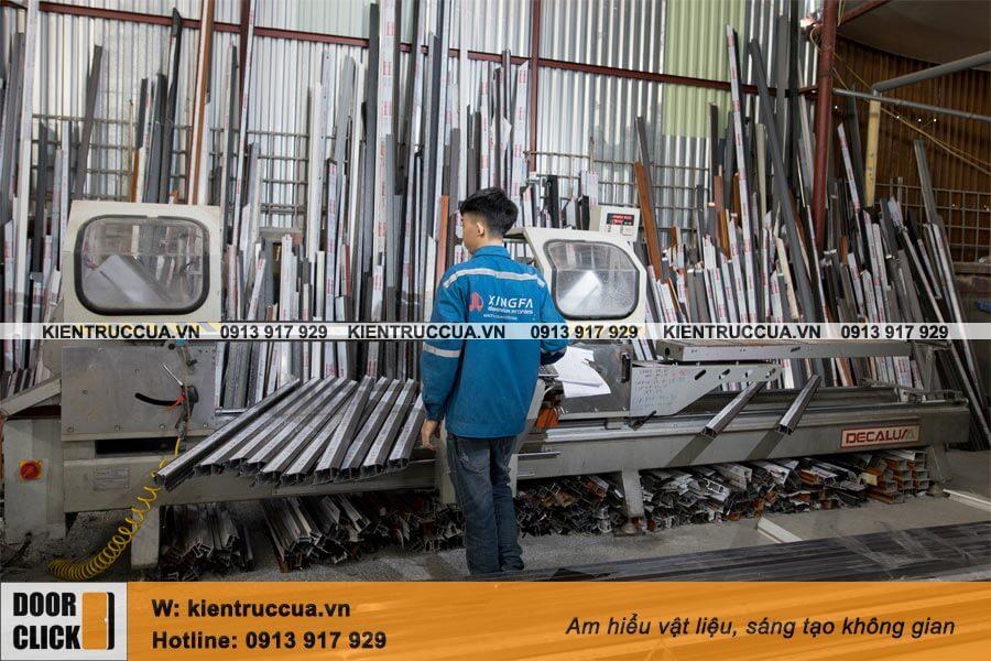 Máy cắt nhôm tự động CNC 2 đầu