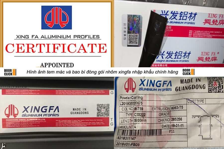 Tem nhôm xingfa nhập khẩu chính hãng