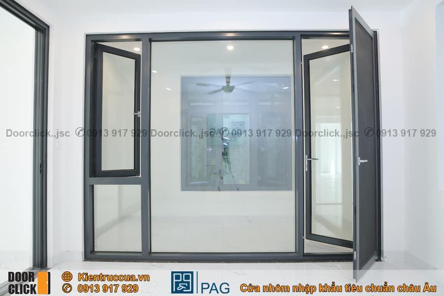 Cửa mở quay nhôm PAG chống côn trùng