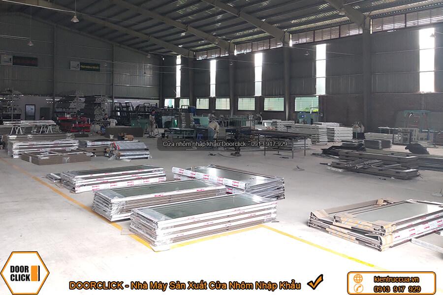 Nhà máy sản xuất cửa nhôm xingfa nhập khẩu chính hãng Doorclick