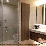 Vách ngăn phòng tắm kính cường lực mở vuông góc